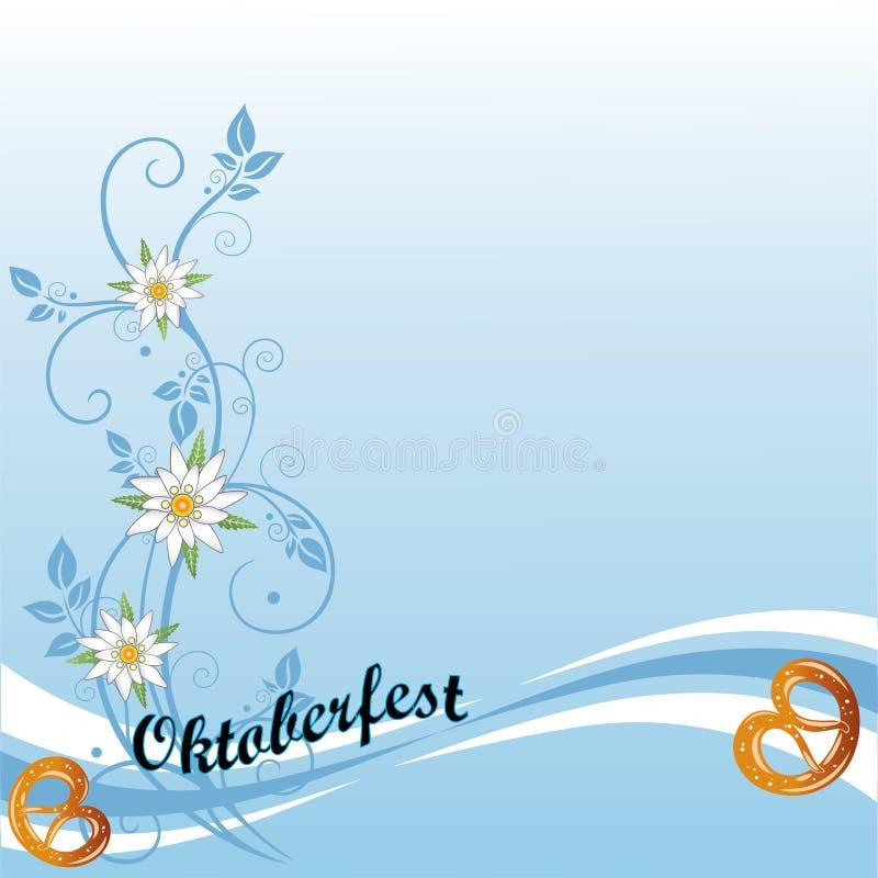 Oktoberfest, pretzel, background vector illustration