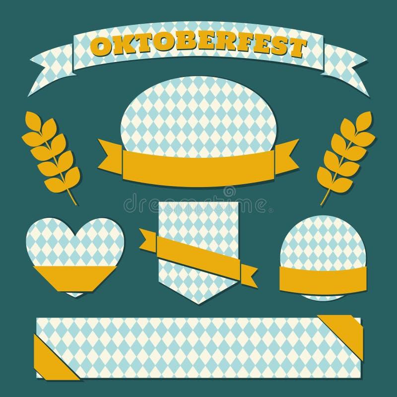 Oktoberfest Przylepia etykietkę kolekcję obrazy stock