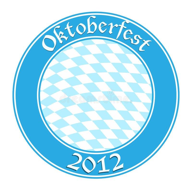 Oktoberfest round banner. Vector-Illustration royalty free illustration