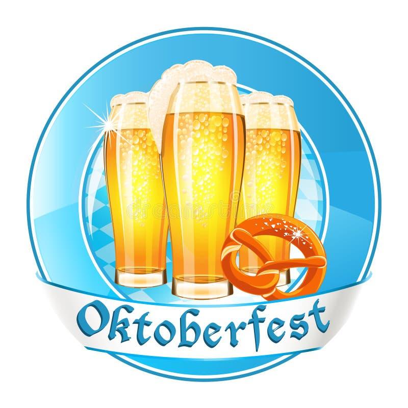 Oktoberfest round banner stock illustration