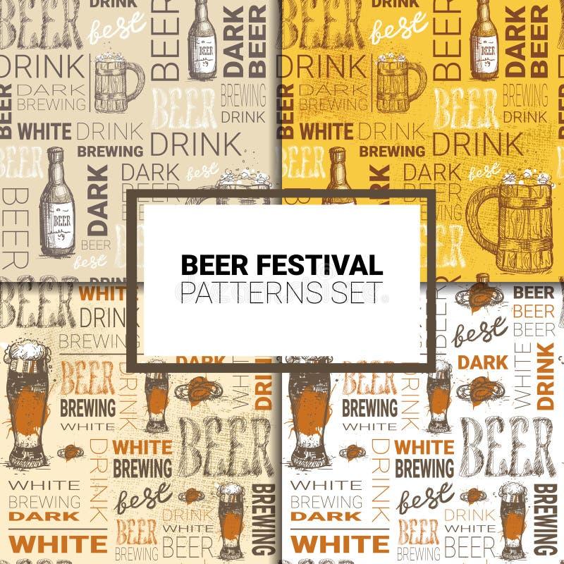 Download Oktoberfest Seamless Pattern Set German Beer Festival Holiday Decoration Design Stock Vector
