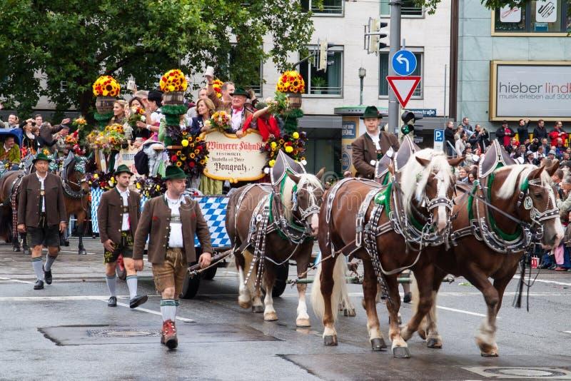Oktoberfest am 21. September 2013 in München lizenzfreies stockfoto