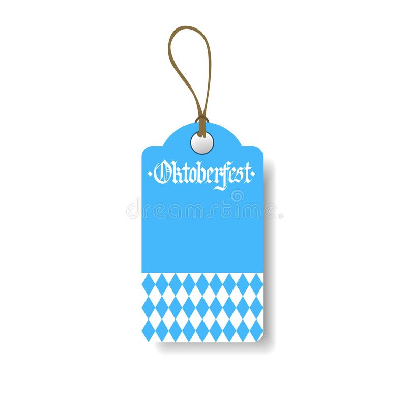 Oktoberfest-Tag-deutsche Bier-Festival-Flieger-Design-Ikone stock abbildung