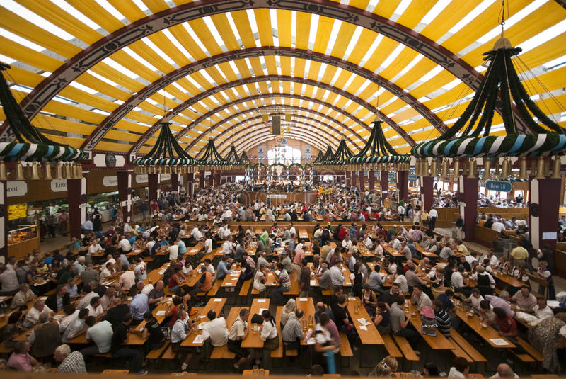 Oktoberfest Tent stock image