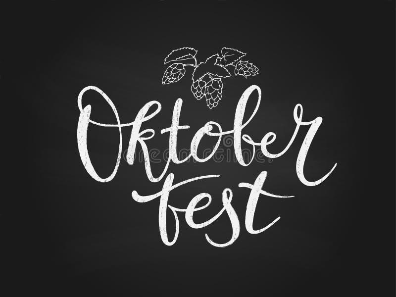 Oktoberfest-Typografietitel-Vektordesign für Grußkarten stock abbildung