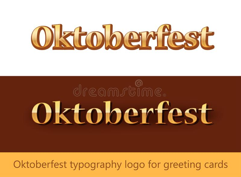 Oktoberfest typography logo for Greating Cards - Vector lettering template. Oktoberfest typography logo for Greating Cards. Vector lettering template royalty free illustration
