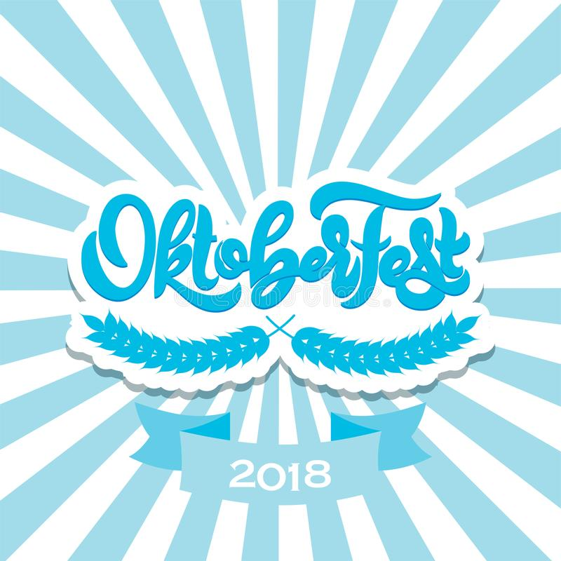 Oktoberfest vector logotype. Beer festival banner. Vector illustration. Oktoberfest logotype. Beer festival banner. Vector illustration of Bavarian festival stock illustration