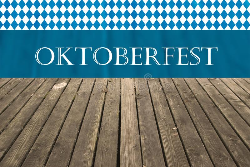 Oktoberfest viendra bientôt Fond pour l'Oktoberfest bavarois célèbre et traditionnel image libre de droits