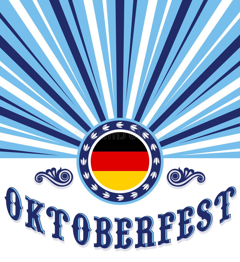 Oktoberfest vintage celebration poster design stock illustration