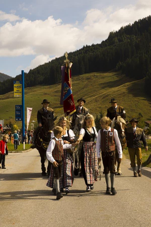 Oktoberfest w Gerlos Austria fotografia royalty free