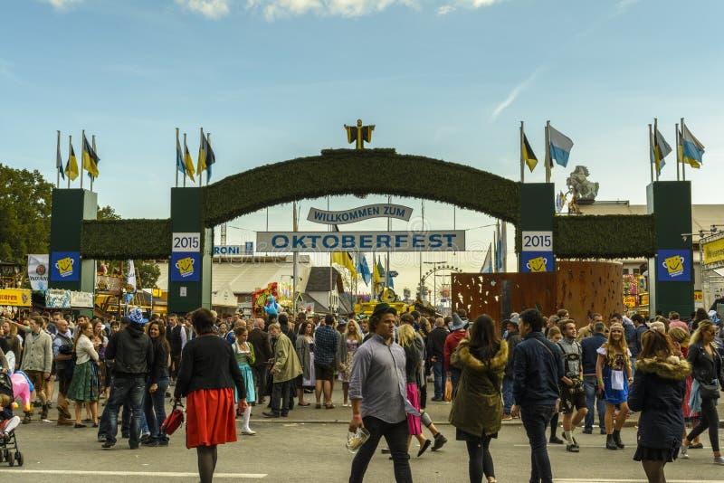 Oktoberfest 2015 w Monachium, Niemcy fotografia royalty free