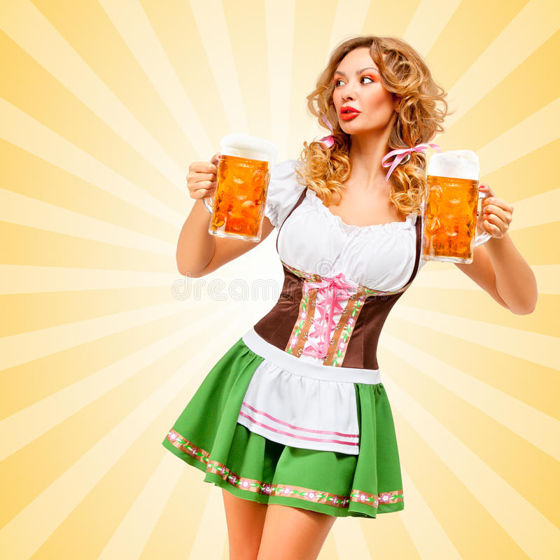 Oktoberfest waitress. royalty free stock images