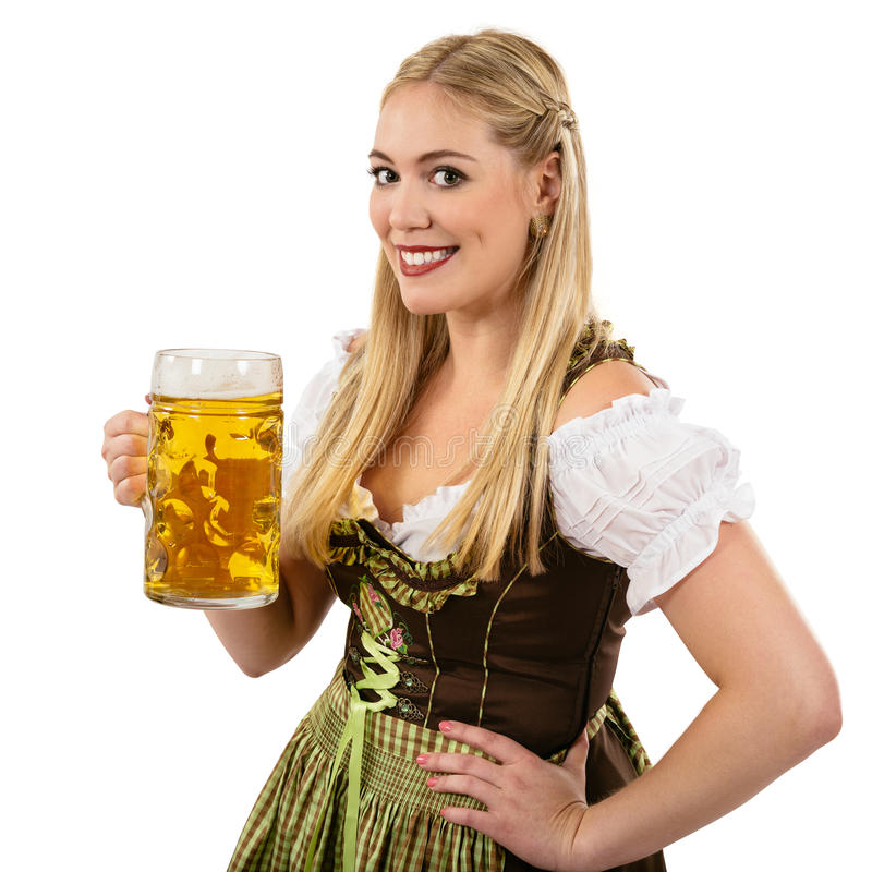 Oktoberfest Waitress With Beer Royalty Free Stock Photos