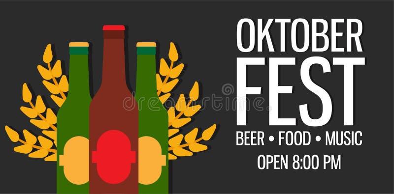 Oktoberfest wakacyjny piwny ilustracyjny tło Bawarski munic ilustracja wektor
