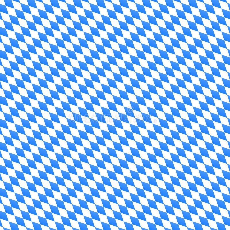 Oktoberfest wektorowy bezszwowy wzór z diagonalnymi diamentowymi kształtami Błękitny i biały tło dla bavarian festiwalu sztandaru ilustracja wektor