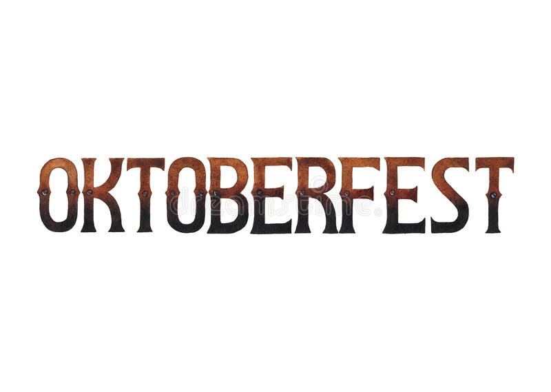 Oktoberfest Wort des Aquarells lizenzfreie abbildung