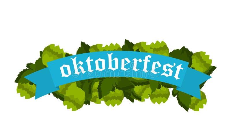 Oktoberfestbanners in Beierse kleurenvector royalty-vrije illustratie