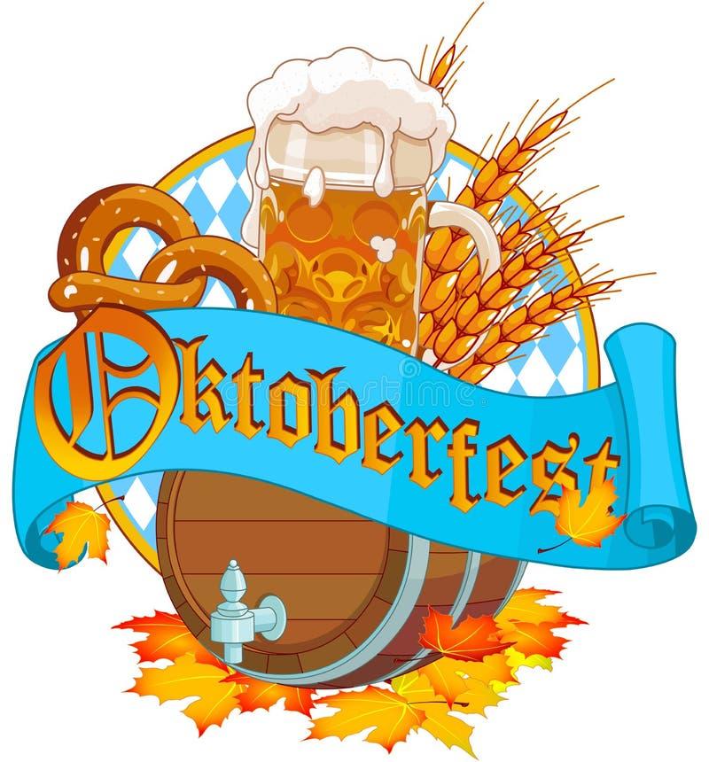 Oktoberfestbeeld stock illustratie