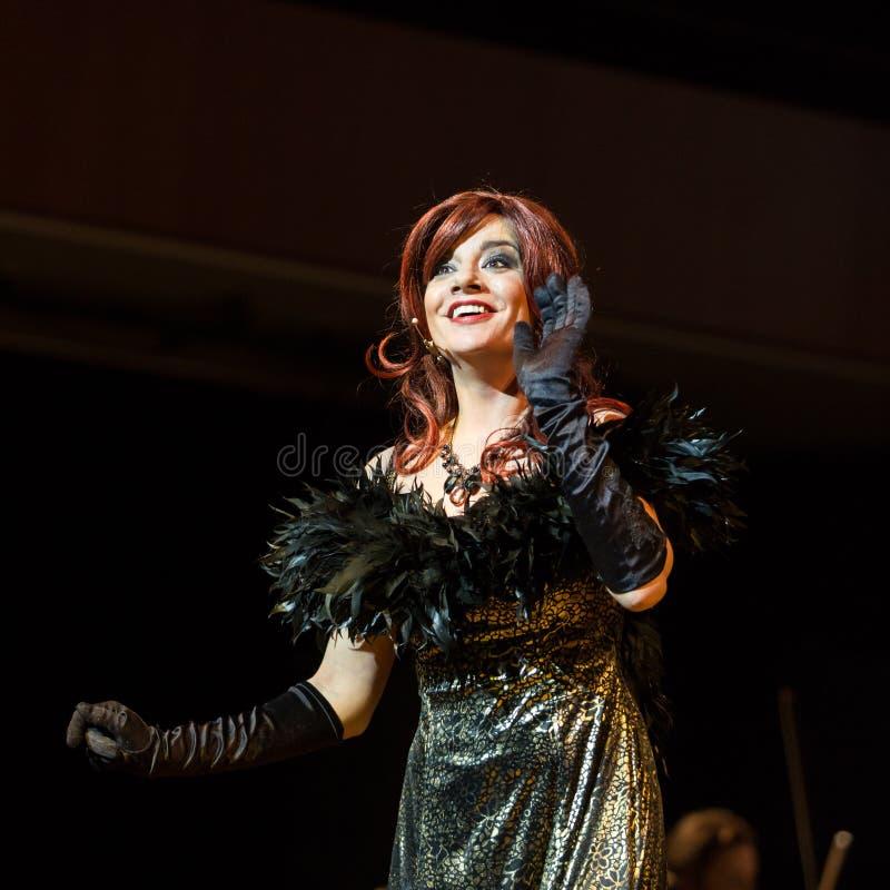 Okularowy uwypukla Filharmonia Futura i M Walewska - opera Jest życiem, zdjęcie royalty free