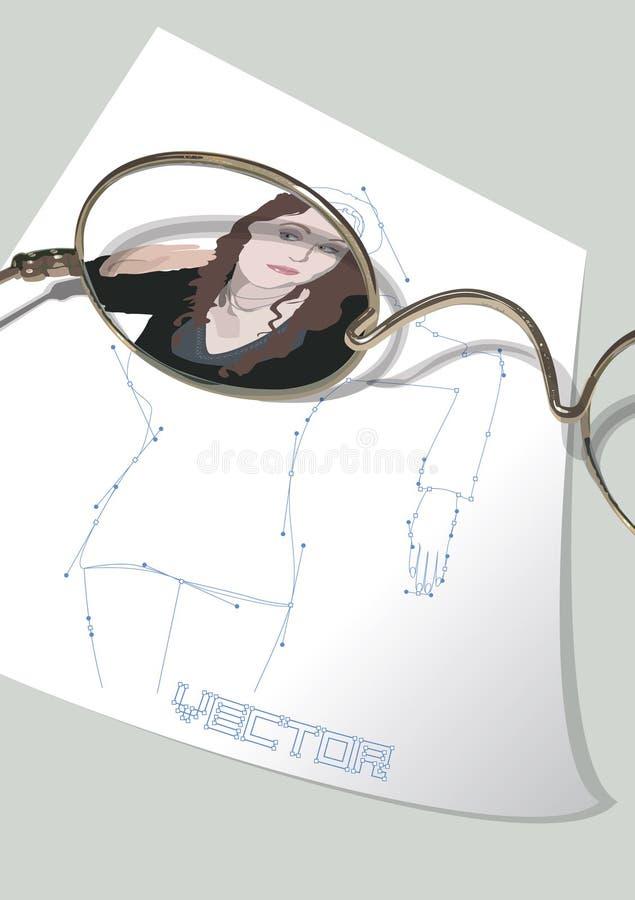 okulary royalty ilustracja