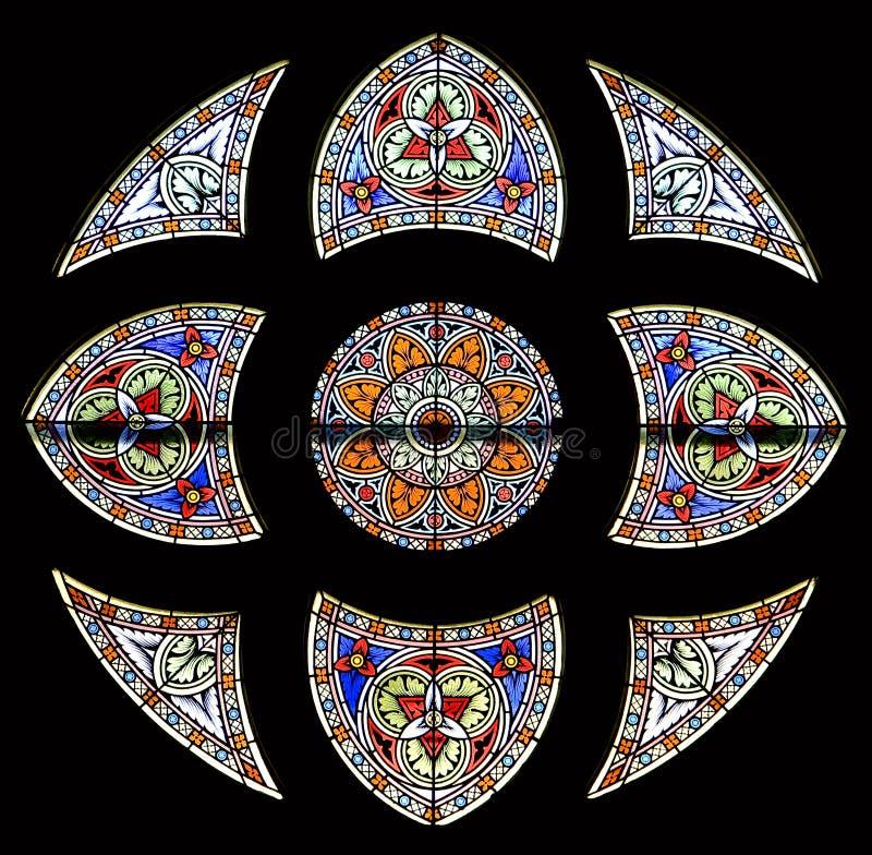 okulary 84 oznaczony przez okno obraz stock