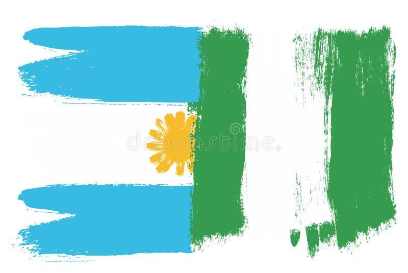 okulary argentina stylu do wektora bandery ilustracja wektor