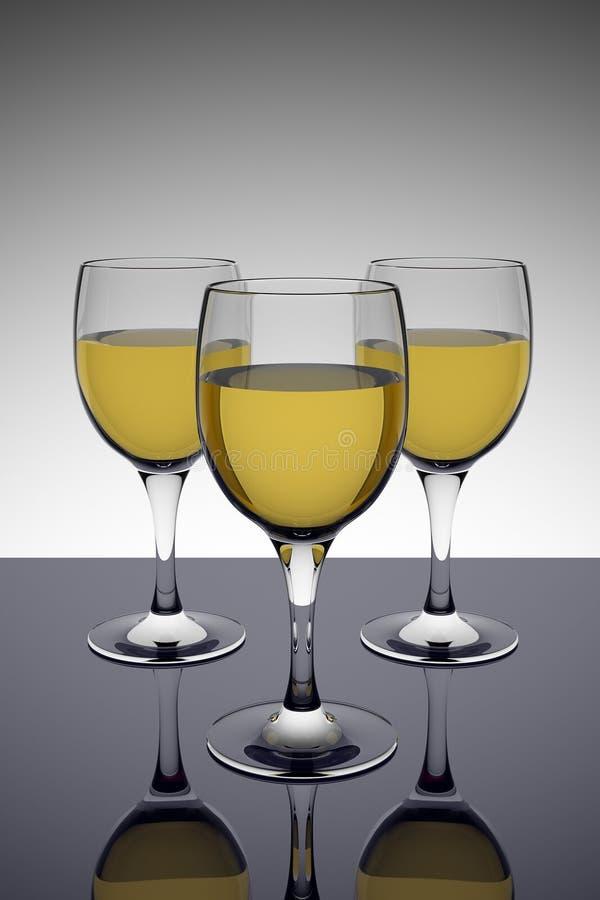okulary białego wina royalty ilustracja