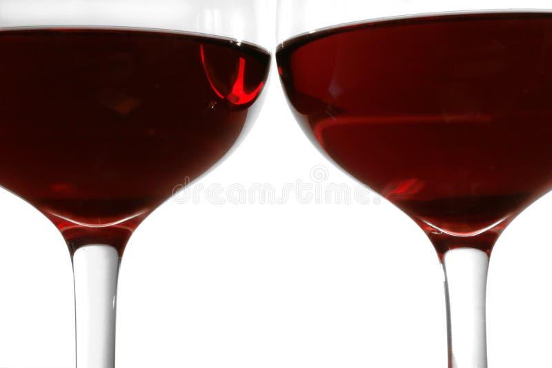 okulary czerwone wino zdjęcia stock