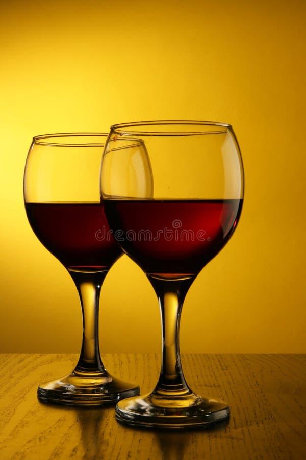 okulary czerwone wino obrazy stock