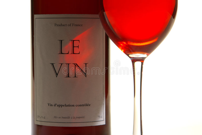 okulary etykiety odizolowane butelek czerwonego wina zdjęcie royalty free