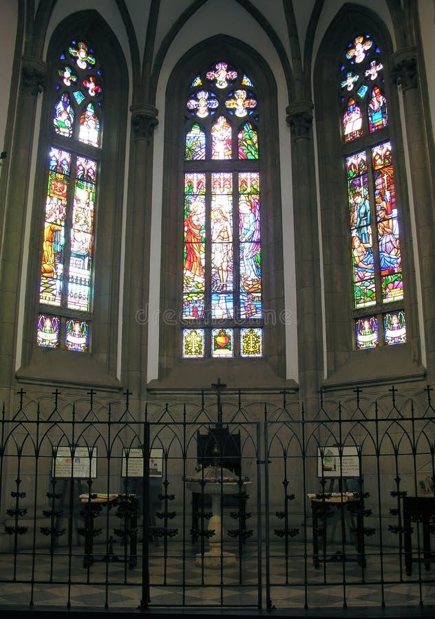 okulary katedralnego Peter jest święty stainded okno obraz royalty free