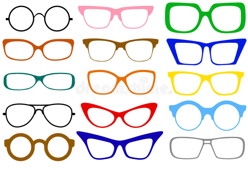 okulary odłogowania ilustracja wektor