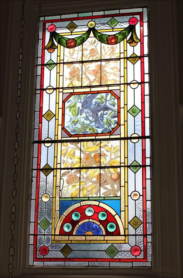 okulary oznaczony przez okno zdjęcie royalty free