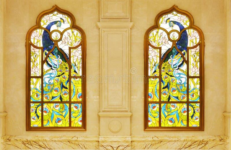 okulary oznaczony przez okno zdjęcia royalty free