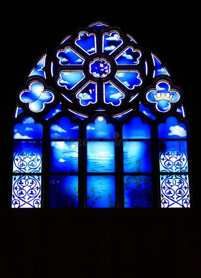 okulary oznaczony windown kościoła. zdjęcie stock