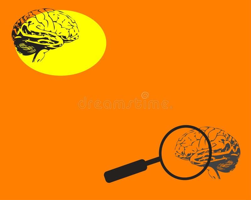 okulary powiększać mózgu ilustracja wektor