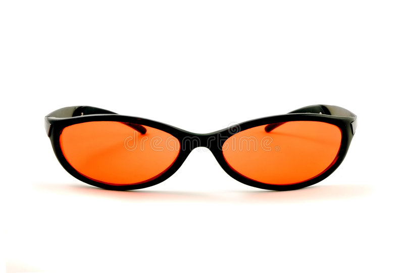 okulary przeciwsłoneczne pomarańczowe zdjęcia stock