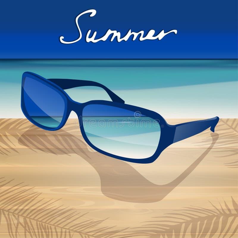 01 okulary przeciwsłoneczni Denny royalty ilustracja