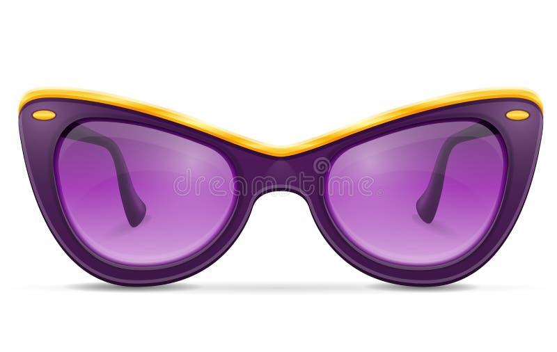 Okulary przeciwsłoneczni dla kobiet w plastikowych ramach zaopatrują wektorową ilustrację ilustracja wektor
