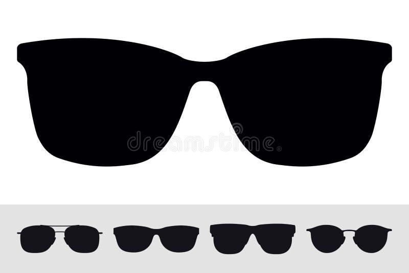 Okulary przeciwsłoneczni Podpisują ikona symbol Wektor Odosobniona sylwetka na bielu ilustracja wektor