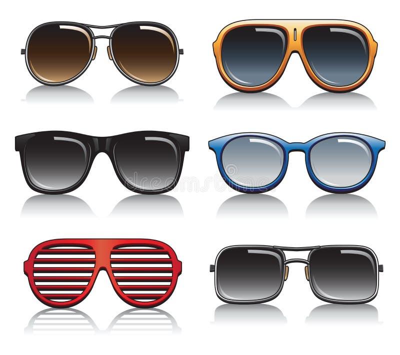 Okulary przeciwsłoneczni wektoru set ilustracji