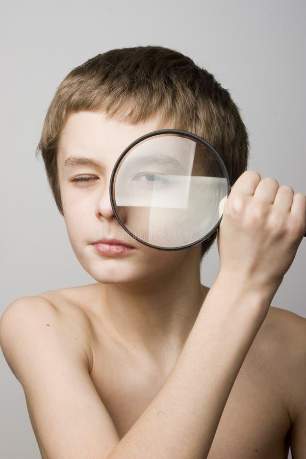 okulary soczewki chłopcze zdjęcia stock