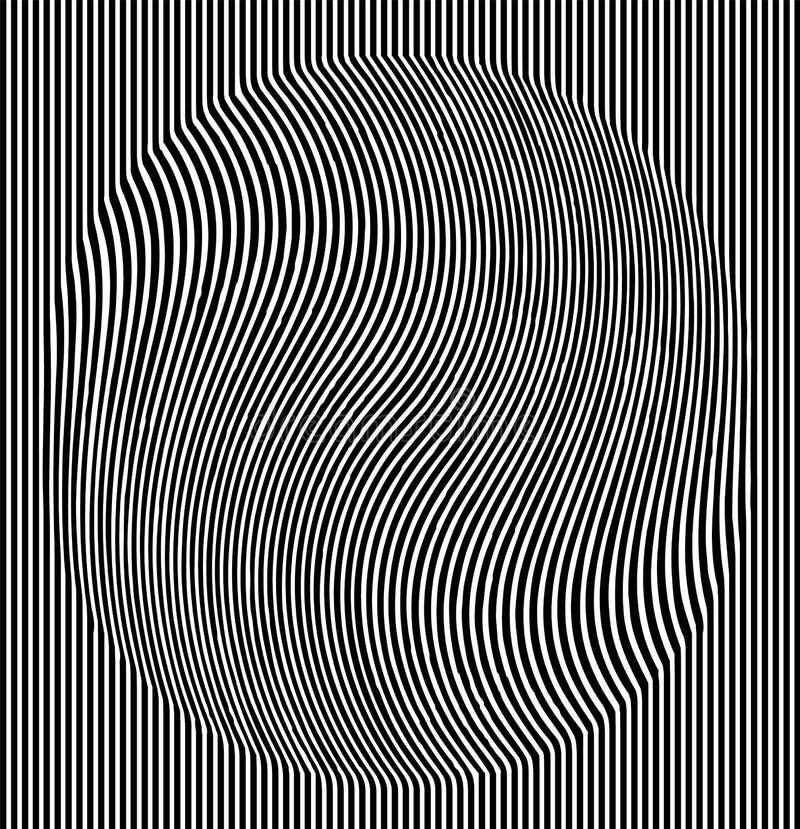 Okulistycznego złudzenia skutek Geometryczna płytka w menfis wystrzału sztuki stylu Wektorowy iluzoryczny tło, tekstura Futurysty ilustracji