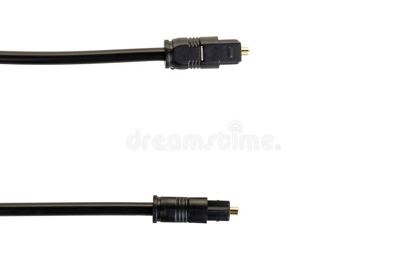 Okulistyczny audio kabel z round włącznikiem fotografia royalty free
