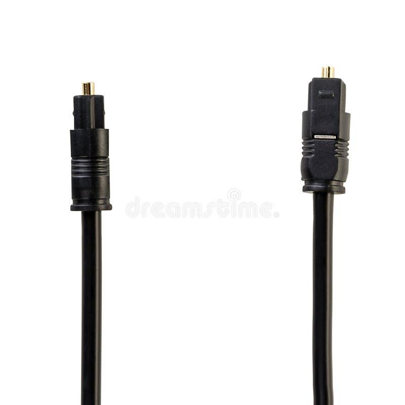 Okulistyczny audio kabel z round włącznikiem zdjęcia stock
