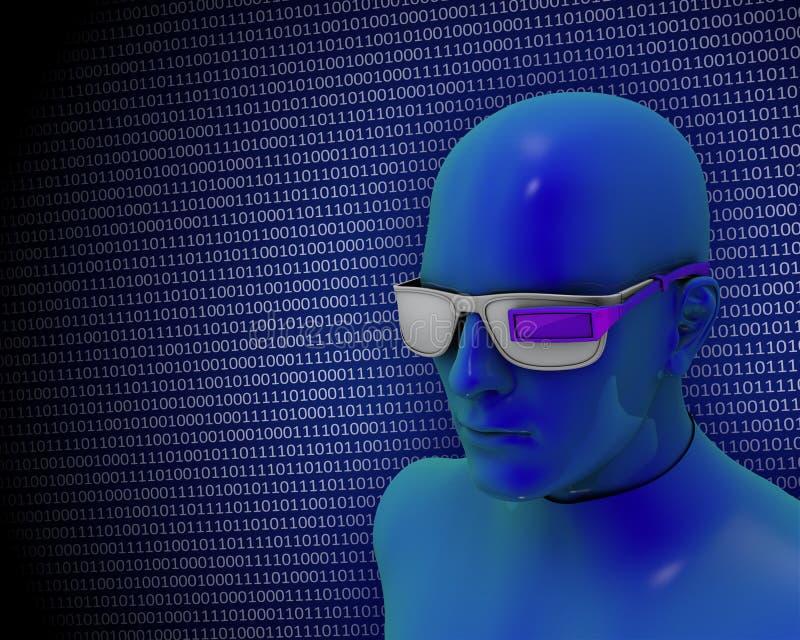 Okulistyczny noszony komputer ilustracji