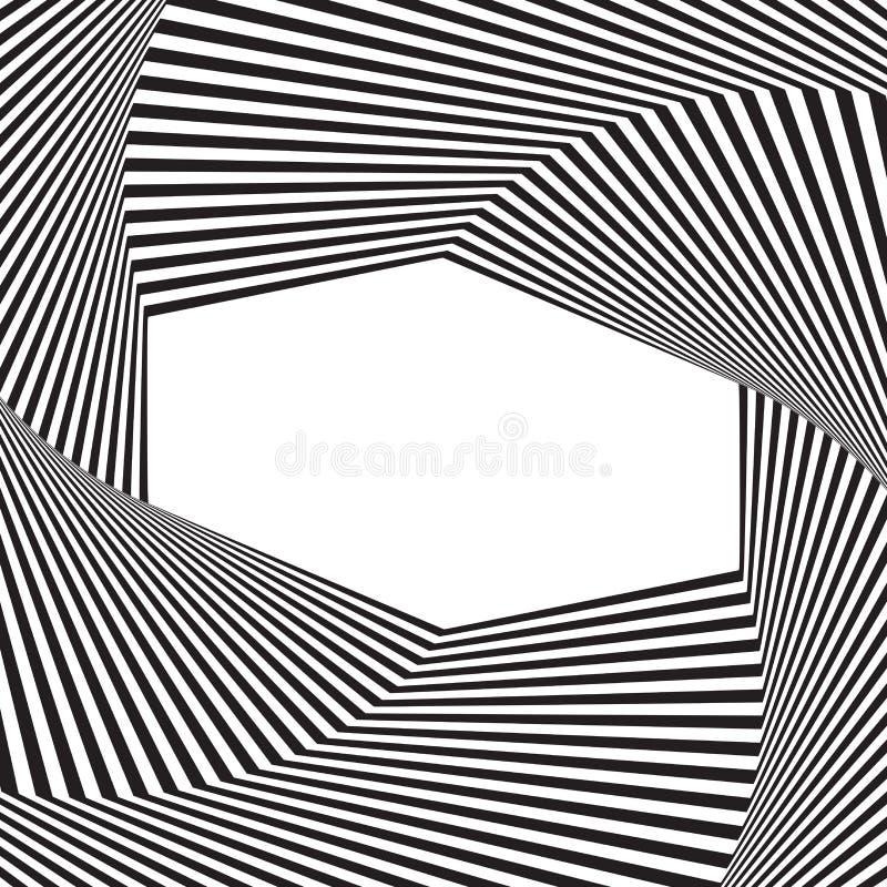 okulistyczny sztuki tło Okulistycznego złudzenia rama z pustą przestrzenią Nowożytny geometryczny wektoru wzór ilustracja wektor