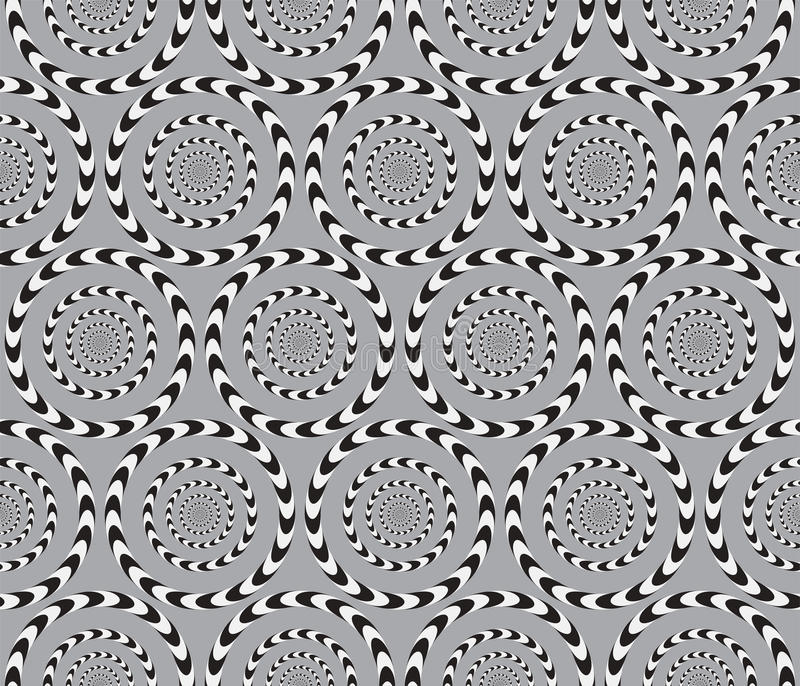 Okulistyczny złudzenie, Wektorowy Bezszwowy wzór. ilustracja wektor