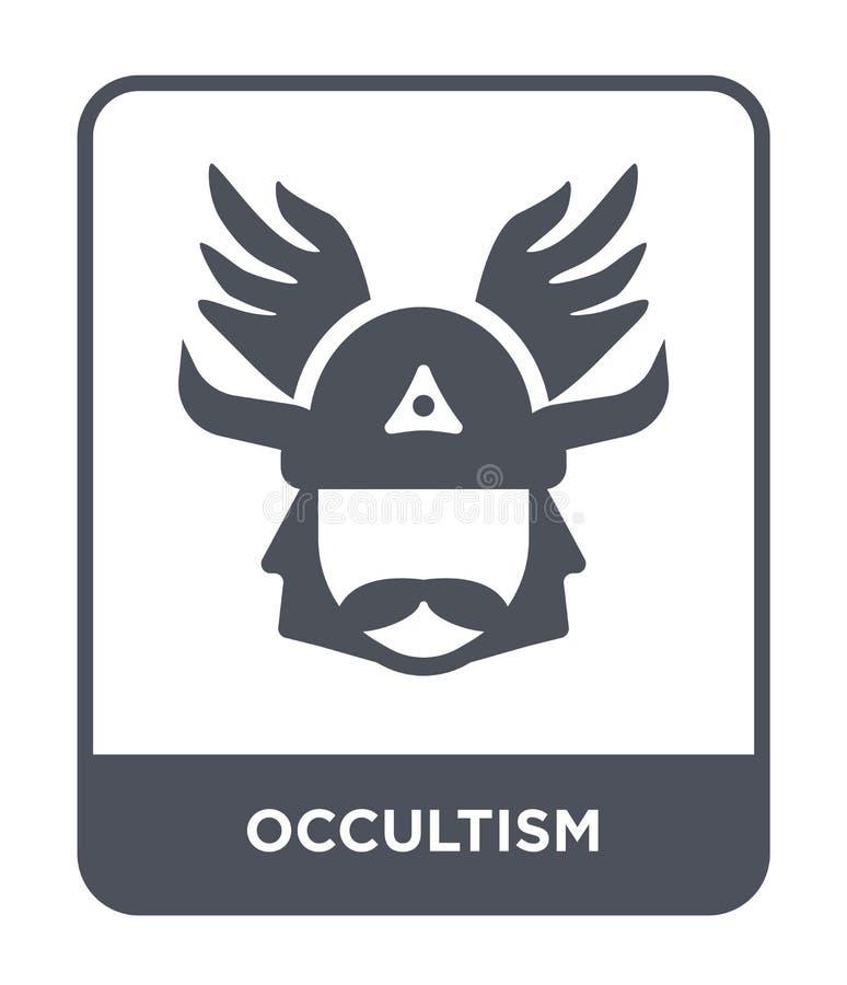 okultyzm ikona w modnym projekta stylu okultyzm ikona odizolowywająca na białym tle okultyzm wektorowej ikony prosty i nowożytny  royalty ilustracja