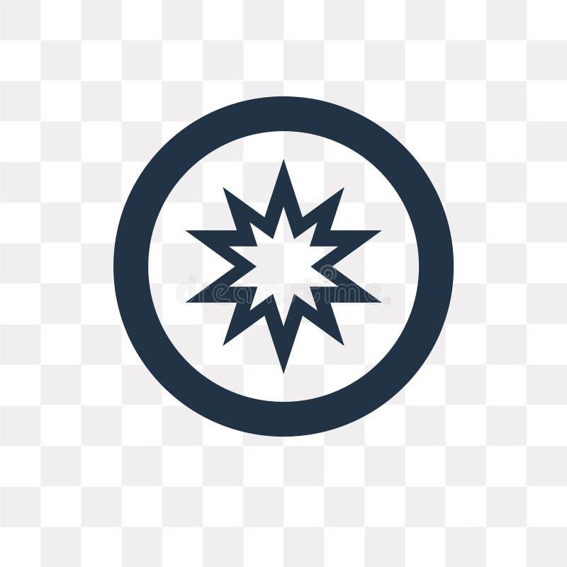 Okultyzm wektorowa ikona odizolowywająca na przejrzystym tle, Occult royalty ilustracja